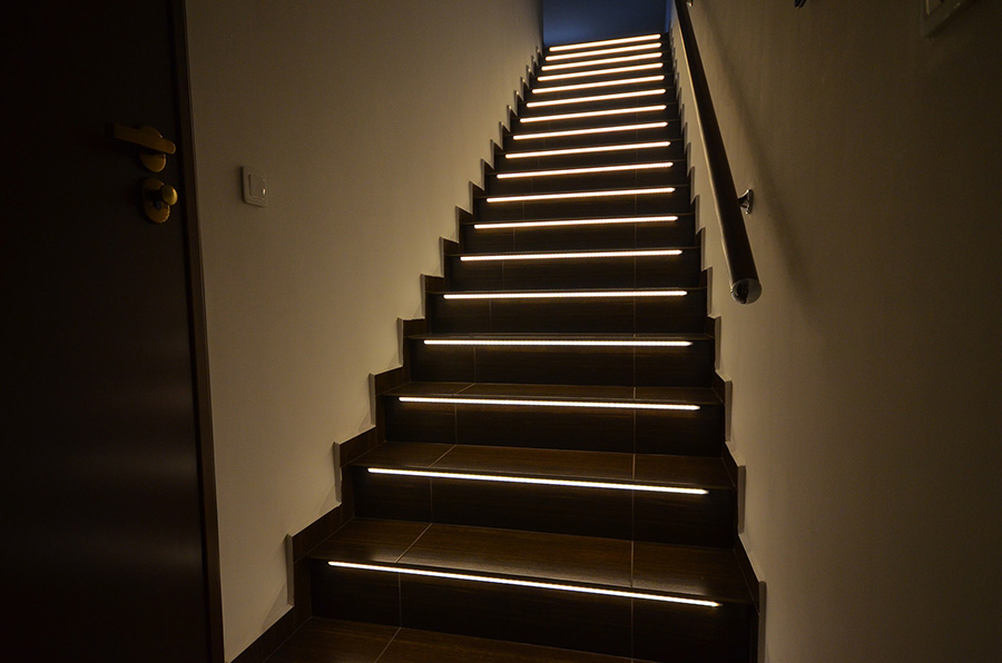 Linear LED Stairs Illumination Sets Are Ready To Install Products Which  Illuminate Steps Inside Houses, Apartments, Restaurants, Hotels And Other  Places.